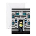 Policemans and Police Station Greeting Card