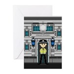 Policemans and Police Station Cards (Pk of 10)