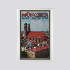 Munich Frauenkirche Rectangle Magnet