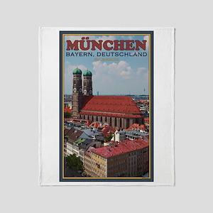 Munich Frauenkirche Throw Blanket