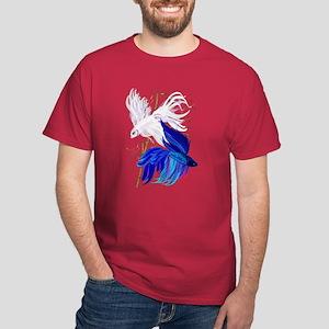 Blue 'n' White Siamese Fighti Dark T-Shirt