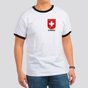 Schweiz Switzerland Shield Ringer T