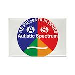 Autistic Spectrum symbol Rectangle Magnet
