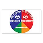 Autistic Spectrum Symbol Sticker (rectangle)