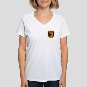 Deutschland (Germany) Shield Women's V-Neck T-Shir