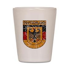 Deutschland (Germany) Shield Shot Glass