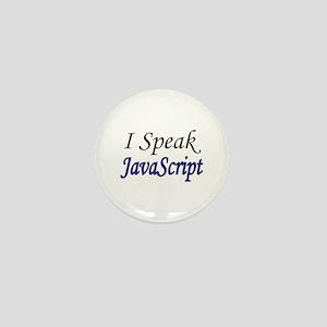 """I Speak JavaScript"" Mini Button"