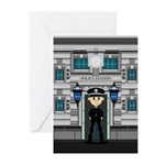 Policeman and Police Station Card (Pk of 10)