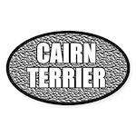 Metallic Cairn Terrier Oval Sticker