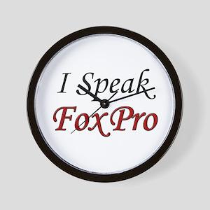 """""""I Speak FoxPro"""" Wall Clock"""
