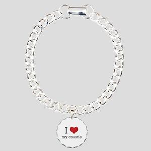 I heart my coastie Charm Bracelet, One Charm