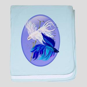 Blue 'n' White Siamese Fighti baby blanket