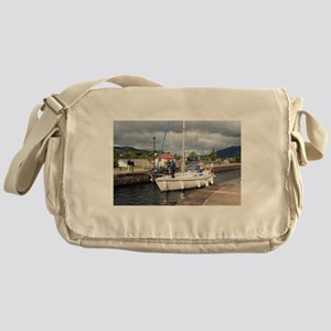 Yacht, Caledonian Canal, Scotland Messenger Bag