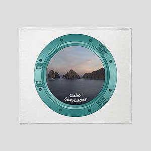 Cabo Sunset Porthole Throw Blanket