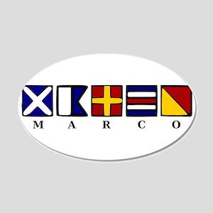 Marco Island 22x14 Oval Wall Peel