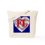 Love FL Flag Heart Tote Bag