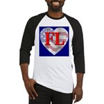 Love FL Flag Heart Baseball Jersey