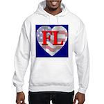 Love FL Flag Heart Hooded Sweatshirt