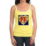Love FL Flag Heart Jr. Spaghetti Tank