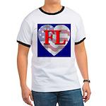 Love FL Flag Heart Ringer T