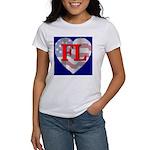 Love FL Flag Heart Women's T-Shirt
