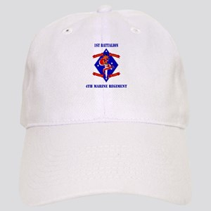 1st Battalion - 4th Marines with Text Cap