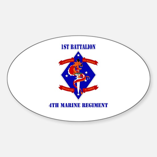 1st Battalion - 4th Marines with Text Decal