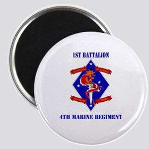 1st Battalion - 4th Marines with Text Magnet