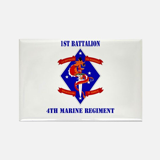 1st Battalion - 4th Marines with Text Rectangle Ma