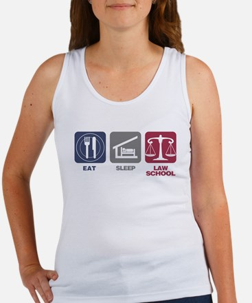 Eat Sleep Law School Women's Tank Top