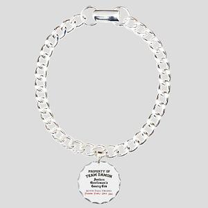 Team Damon Charm Bracelet, One Charm