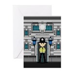 Policeman and Police Station Cards (Pk of 10)