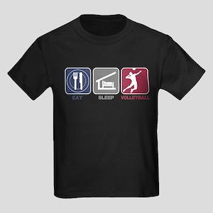 Eat Sleep Volleyball - Man Kids Dark T-Shirt