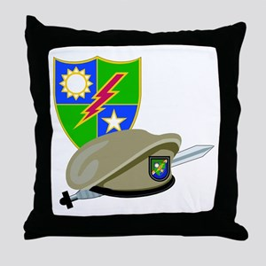 SOF - Ranger DUI - Beret Throw Pillow