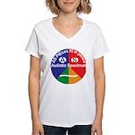 Autistic Spectrum symbol Women's V-Neck T-Shirt