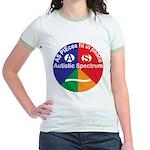 Autistic Spectrum symbol Jr. Ringer T-Shirt