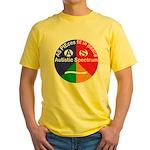 Autistic Spectrum symbol Yellow T-Shirt