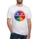 Autistic Spectrum symbol Fitted T-Shirt