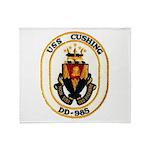 USS CUSHING Throw Blanket