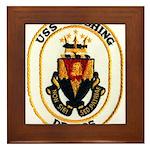 USS CUSHING Framed Tile