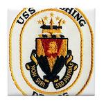 USS CUSHING Tile Coaster