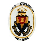 USS CUSHING Ornament (Oval)
