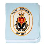 USS CUSHING baby blanket
