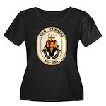 USS CUSHING Women's Plus Size Scoop Neck Dark T-Sh