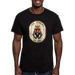 USS CUSHING Men's Fitted T-Shirt (dark)