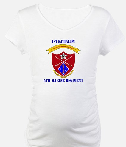 1st Battalion 5th Marines with Text Shirt