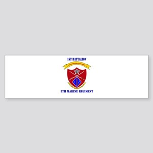 1st Battalion 5th Marines with Text Sticker (Bumpe