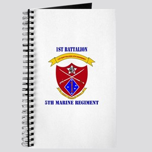 1st Battalion 5th Marines with Text Journal