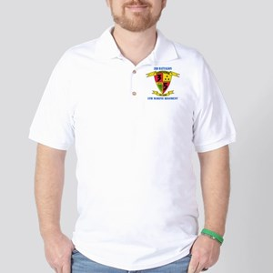 3rd Battalion 5th Marines with Text Golf Shirt