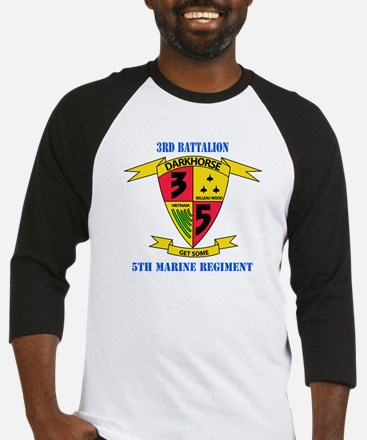 3rd Battalion 5th Marines with Text Baseball Jerse